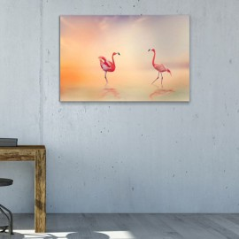Romantische Flamingos